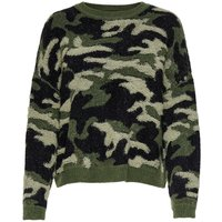 ONLY Patterned Knitted Pullover Women Green