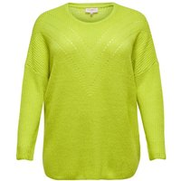 ONLY Einfarbiges Curvy Strickpullover Damen Gelb