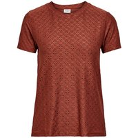 ONLY Texture Short Sleeved Top Women Red