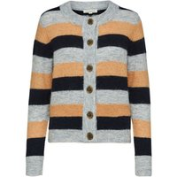 SELECTED Petite Colour Block - Knitted Cardigan Women Grey