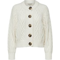 SELECTED Cable Knit - Knitted Cardigan Women White