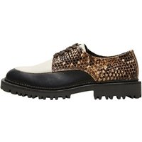 SELECTED Leder Derby-schuhe Women Black