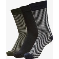 SELECTED 3er-pack Rippdesign Socken Men Blue
