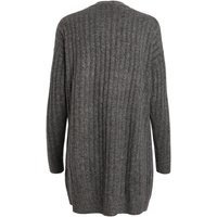 PIECES Long Knitted Wool Cardigan Women Grey