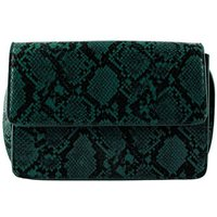 PIECES Faux Snake Crossbody Bag Women Green