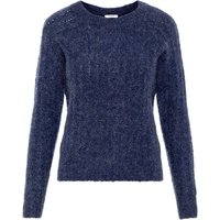 PIECES Langarmeliger Woll Strickpullover Women Blue