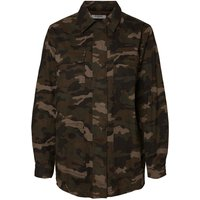 PIECES Camouflage Printed Jacket Women Black; Green