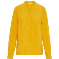 PIECES Stehkragen Hemd Women Yellow