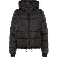 PIECES Hooded Puffer Jacket Women Black