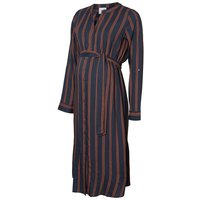 MAMA.LICIOUS Striped Maternity Midi Dress Women Blue