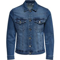ONLY & SONS Einfarbige Jeansjacke Men Blue