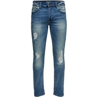 ONLY & SONS Onsloom Blue Washed Slim Fit Jeans Men Blue