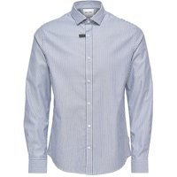 ONLY & SONS Striped Long Sleeved Top Men Blue