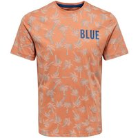 ONLY & SONS Kurzarmeliges T-shirt Men Orange