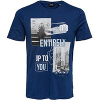 ONLY & SONS Printed T-shirt Men Blue