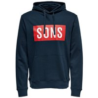 ONLY & SONS Kapuzen Sweatshirt Men Blue