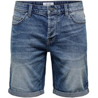 ONLY & SONS Onsply Denim Shorts Men Blue
