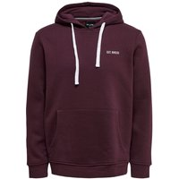 ONLY & SONS Einfarbiger Hoodie Men Red