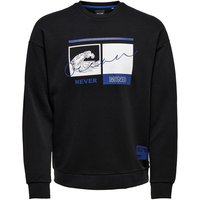 ONLY & SONS Vorderprint Sweatshirt Men Black
