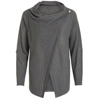 OBJECT COLLECTORS ITEM Wrap Knitted Cardigan Women Grey
