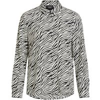 OBJECT COLLECTORS ITEM Zebraprint Viskose Hemd Women Black