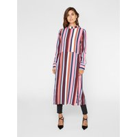 Y.A.S Striped Long Sleeved Dress Women Blue; Cobber; Pink; Red; White