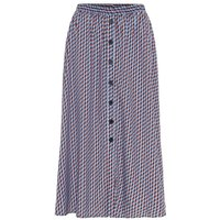 Y.A.S Graphic-print Midi Skirt Women Blue; Red
