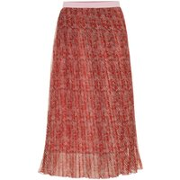 Y.A.S Pleated Midi Skirt Women Brown; Pink