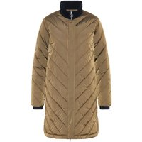 Y.A.S Longline Quilted Down Jacket Women Green
