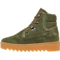 BIANCO Chunky Sole Winter Boots Women Green