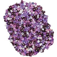 Rocailles-Perlen, lila-flieder-creme, 2,5 mm Ø, 100 g