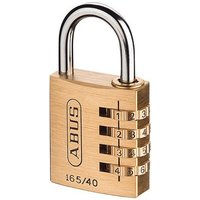 ABUS Mechanical 165/20 20mm Solid Brass Body Combination Padlock (3-Digit) Carded By UKToolCentre