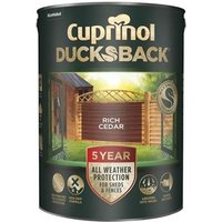 'Cuprinol Ducksback 5 Year Waterproof For Sheds & Fences Forest Oak 5 Litre