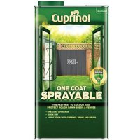 'Cuprinol One Coat Sprayable Fence Treatment Forest Oak 5 Litre