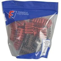 ForgeFix Plastic Plug & Drill Kit 402 Piece