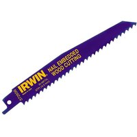 IRWIN  656R 150mm Sabre Saw Blade Nail Embedded Wood Pack of 2