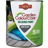Liberon Garden Colour Care Decking Paint Light Silver 2.5L
