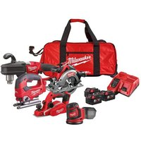 Milwaukee Power Tools M18 FPP5L FUEL™ Woodworking Kit 18V 3 x 5.0Ah Li-ion