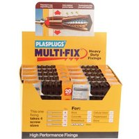 Plasplugs BJP700 Heavy-Duty Fixings (20 Plugs x 50 Strips)