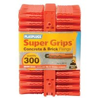 Plasplugs RP 187 Solid Wall Super Grips��� Fixings Red (300)