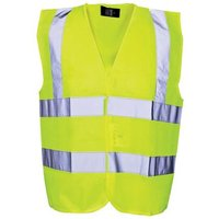 Scan Hi-Vis Yellow Waistcoat - Child 7-9 (32in)
