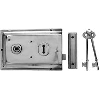 Yale Locks P334 Rim Lock Chrome Finish 156 x 104mm Visi