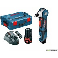 Bosch GWB12V-10 Cordless Angle Drill 2 x 2.0Ah Batteries In LBoxx