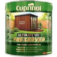 Cuprinol Ultimate Garden Wood Preserver Autumn Brown 4 litre