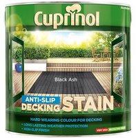 'Cuprinol Anti-slip Decking Stain Black Ash 2.5 Litre