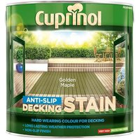 'Cuprinol Anti-slip Decking Stain Golden Maple 2.5 Litre