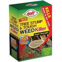 DOFF Tree Stump andamp; Tough Weedkiller 2 Sachet
