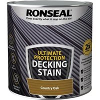 'Ronseal Ultimate Protection Decking Stain Country Oak 2.5 Litre
