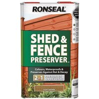 Ronseal Shed andamp; Fence Preserver Green 5 litre