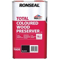 Ronseal Trade Total Wood Preserver Black 5 litre